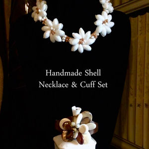 Shell Necklace & Cuff Set